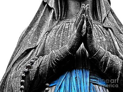 Madonna Of Lourdes   Poster by Alexandra Jordankova
