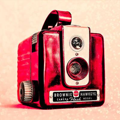 Magenta Brownie Hawkeye - Square Poster by Jon Woodhams