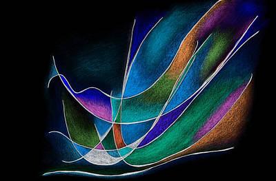 Magic Wings In Black Poster by Alla Ilencikova