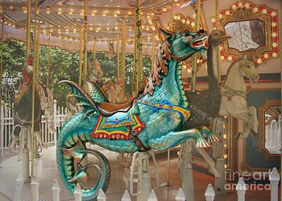 Magical Carousel Poster by Sabrina L Ryan