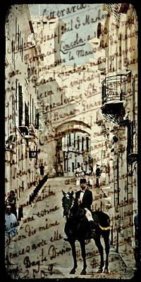 Mahon Old Town Memories - Fiestas 2011 Poster by Pedro Cardona