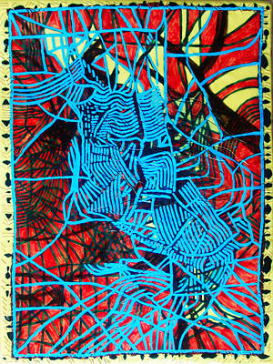 Maiden In Blue - Mary In The Temple Poster by Gloria Ssali