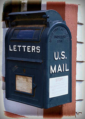 Mail Box At The Post Office Poster by Ken Smith