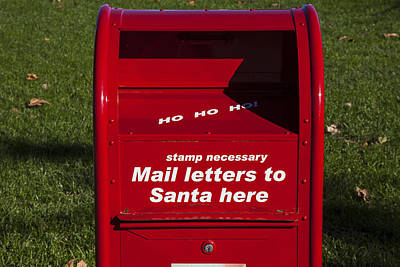 Mail Letters To Santa Here Poster by Garry Gay