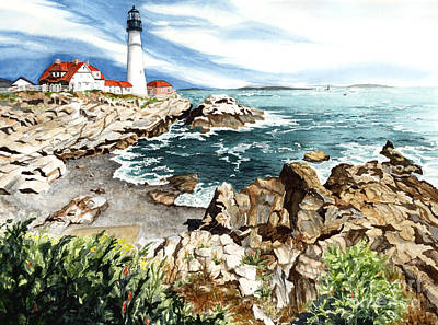 Maine Attraction Poster by Barbara Jewell