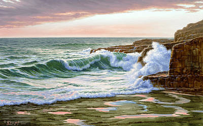 Maine Coast Morning Poster by Paul Krapf