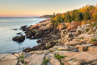 Maine Coastal Photograph - Acadia National Park Poster by Bill Swindaman