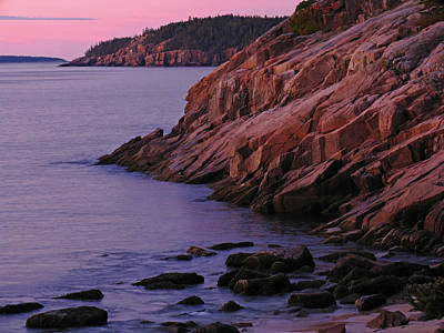 Maine Granite Coast Sunrise Poster by Juergen Roth