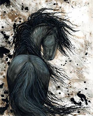 Majestic Friesian Horse 123 Poster by AmyLyn Bihrle