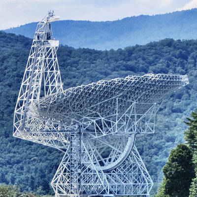 Making Contact - Green Bank Telescope Poster by Patricia Januszkiewicz
