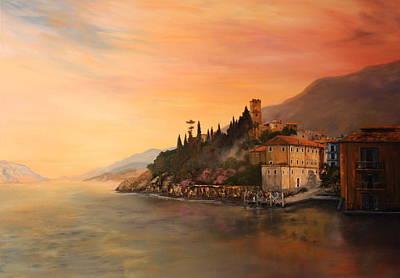 Malcesine Lake Garda Italy Poster by Jean Walker