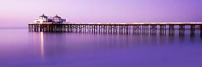 Malibu Pier At Sunrise Poster by Steve Munch