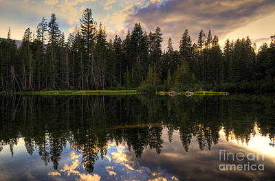 Mamie Lake Reflections Poster by Kelly Wade