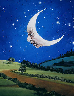 Man In The Moon Poster by Carol Heyer