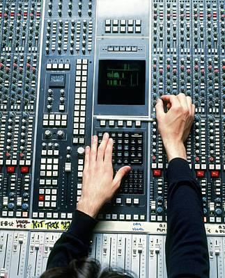 Man Operating Recording Desk Poster by Dorling Kindersley/uig
