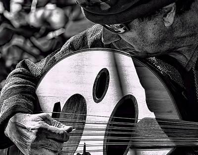 Man Playing Turkish Oud Poster by Jay Droggitis