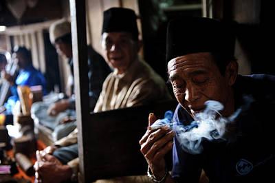 Man Smoking Poster by Matthew Oldfield