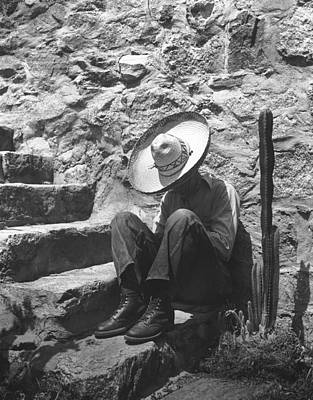 Man Taking A Siesta Poster by Underwood Archives