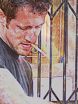 Man Working Poster by John Fish
