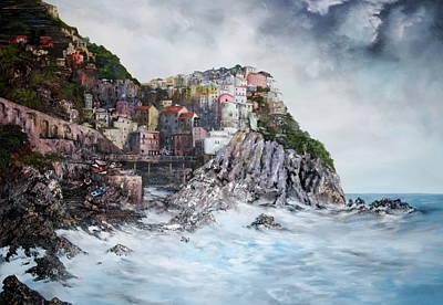 Manarola Italy Poster by Jean Walker