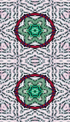 Mandala 7 For Iphone Double Poster by Terry Reynoldson