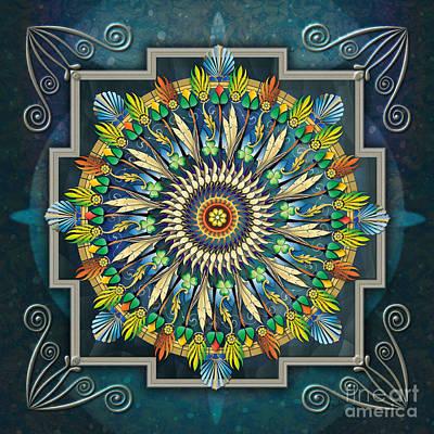 Mandala Night Wish Poster by Bedros Awak