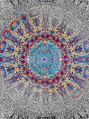 Mandalan Tapestry Poster by John Haldane