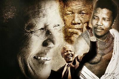 Mandela Journey Poster by Lynda Payton
