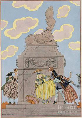 Mandoline Poster by Georges Barbier