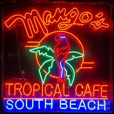 Mango's South Beach Miami - Square Poster by Ian Monk