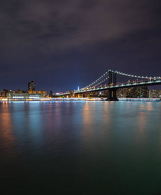 Manhattan Bridge - New York - Usa Poster by Larry Marshall