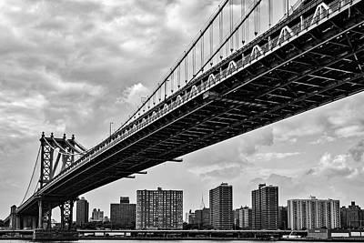 Manhattan Bridge Nyc Skyline Poster by Susan Candelario