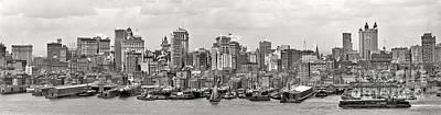 Manhattan Panorama Circa 1908 Poster by Jon Neidert