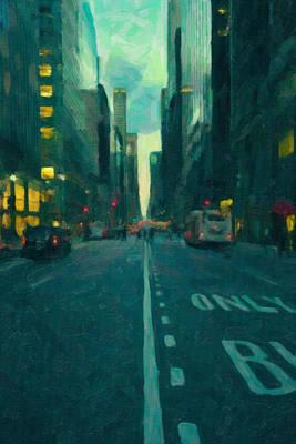 Manhattan Road Poster by Emmanouil Klimis