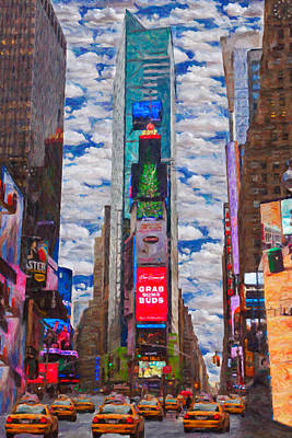 Manhattan Taxi Poster by Emmanouil Klimis