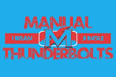 Manual Thunderbolts Poster by Joe Hamilton