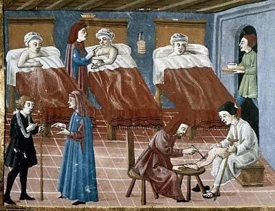 Manuscript Gaddiano Circa 1542. Doctors Poster by Everett
