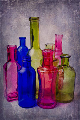 Many Colorful Bottles Poster by Garry Gay
