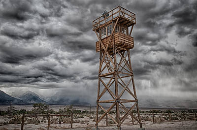 Manzanar Guard Tower Poster by Cat Connor