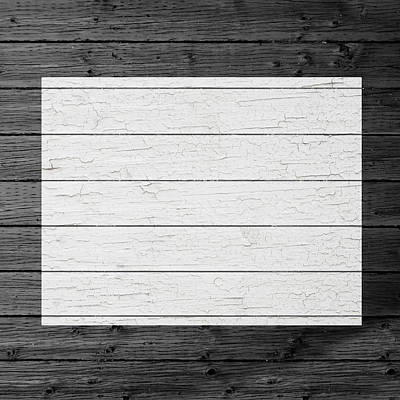 Map Of Colorado State Outline White Distressed Paint On Reclaimed Wood Planks Poster by Design Turnpike
