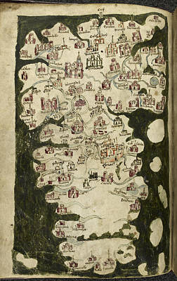 Map Of England And Wales Poster by British Library