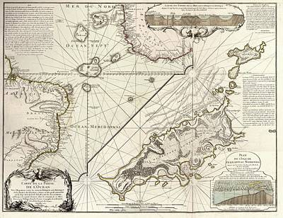 Map Of Fernando De Noronha Poster by Library Of Congress, Geography And Map Division