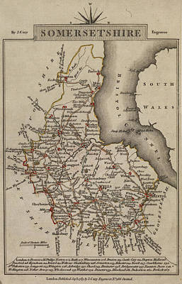 Map Of Somersetshire Poster by British Library