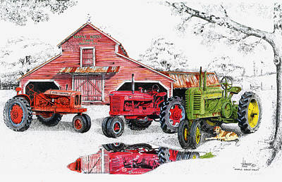 Maple Grove Farms Poster by Larry Johnson