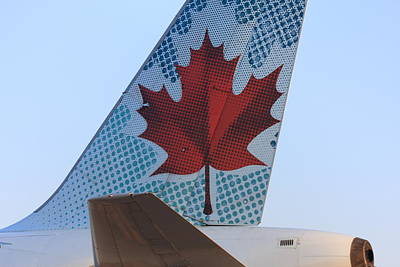 Maple Leaf Logo On Air Canada Airbus 319 Poster by Andrei Filippov