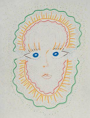 Mardi Gras Mask Poster by Rick Stecz