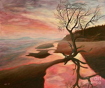 Maremma Sunset - Painting Poster by Christiane Schulze Art And Photography