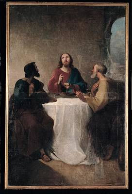 Marghinotti Giovanni, Supper At Emmaus Poster by Everett