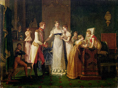 Marie-louise Of Austria Bidding Farewell To Her Family In Vienna Poster by Pauline Auzou