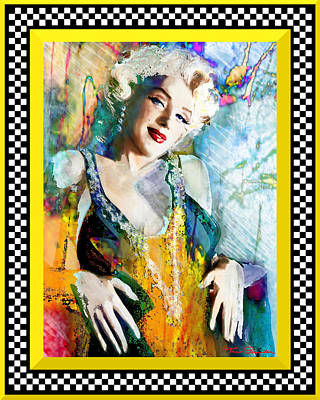 Marilyn 126 Racing Poster by Theo Danella